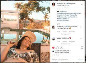 A atriz Rafaela Ferreira usa look Predilect's Plus