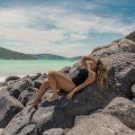 Campanha moda praia plus size em Arraial do Cabo da Predilect's Plus