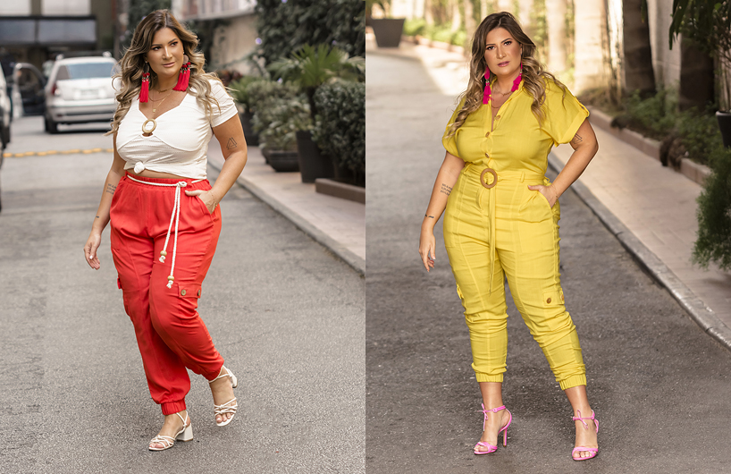 Bruna Rêgo usa looks plus size da Predilect's Plus