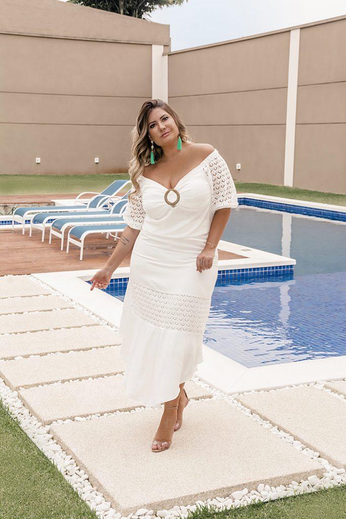 Look plus size para o Réveillon: moda branca da Predilect's Plus para a virada de ano