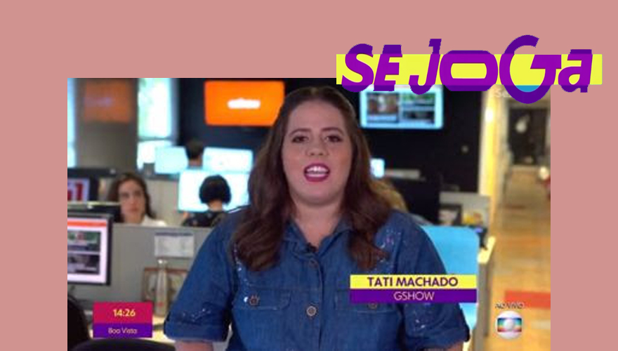 Tati Machado, repórter do Se Joga, usa look Plus Size da Predilect's Plus
