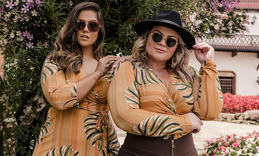 Campanha de moda plus size em Gramado