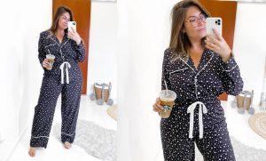 pijama plus size de estrelinhas