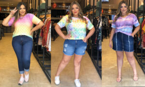 Moda tie-dye plus size da Predilect's Plus