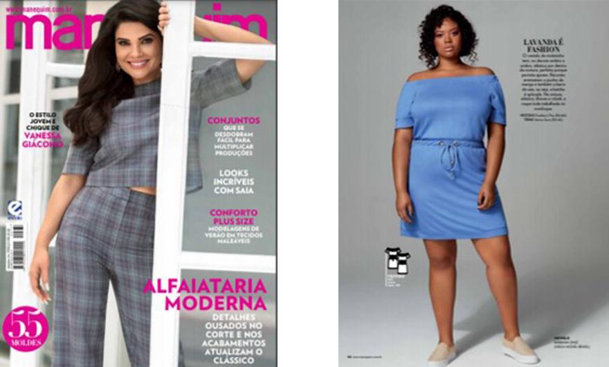 Look plus size lavanda da Predilect's Plus na Revista Manequim